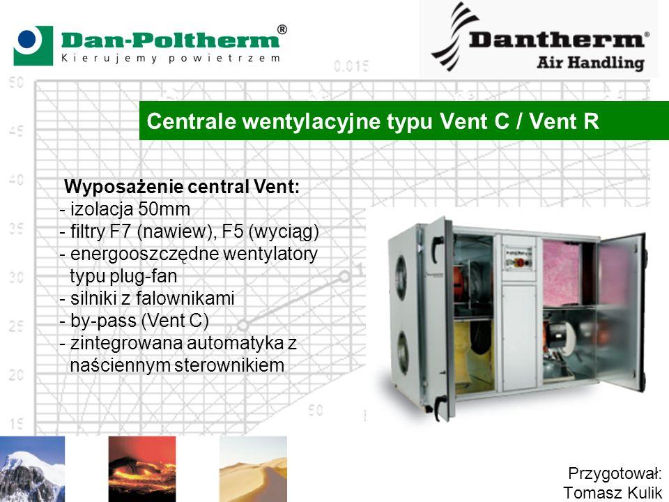 Centrale wentylacyjne typu Vent C / Vent R