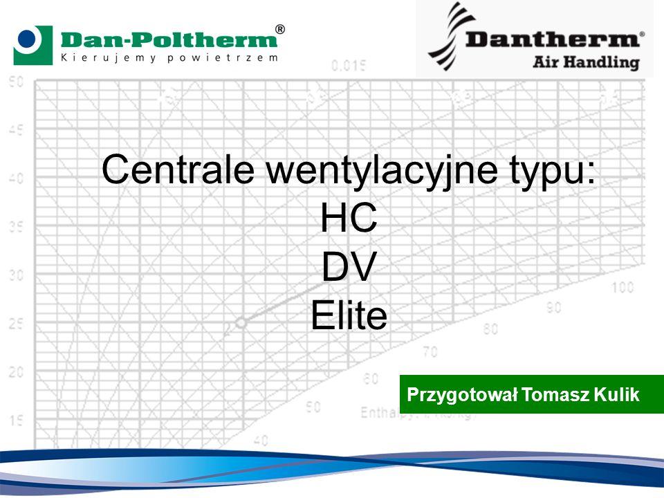 Centrale wentylacyjne typu: HC DV Elite