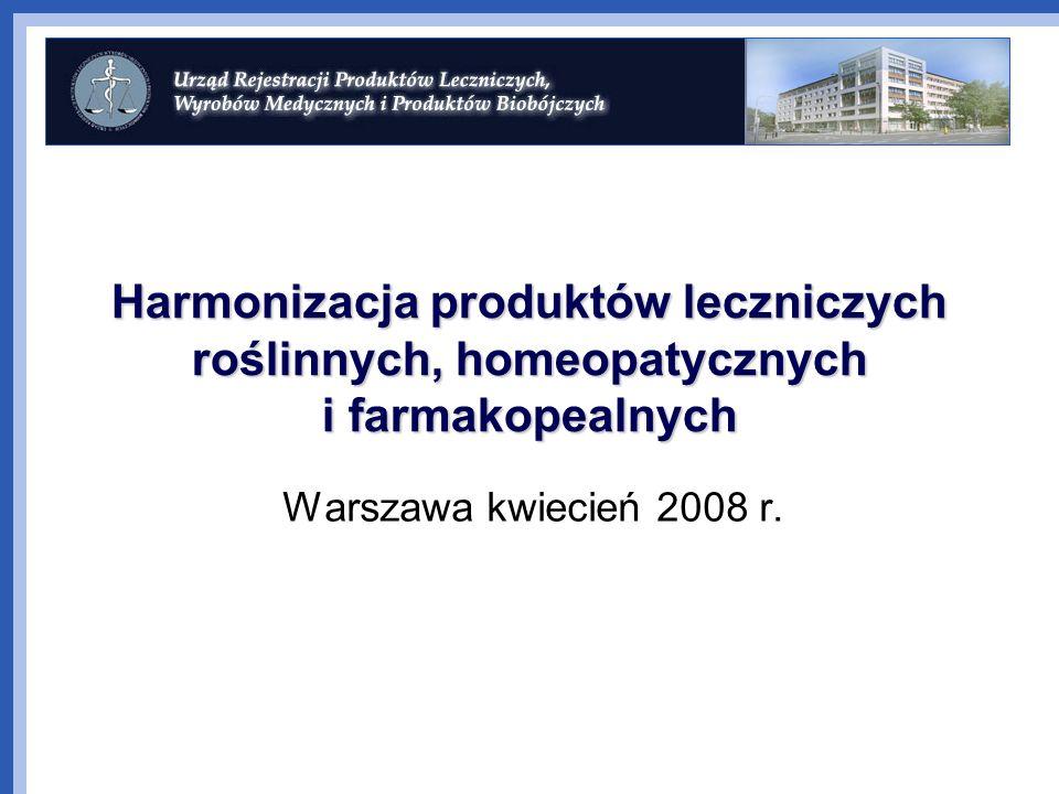 Harmonizacja produktów leczniczych roślinnych, homeopatycznych i farmakopealnych