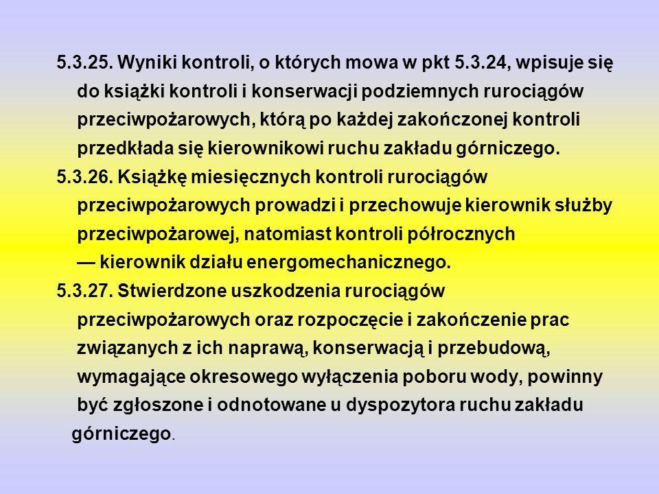 5. 3. 25. Wyniki kontroli, o których mowa w pkt 5. 3