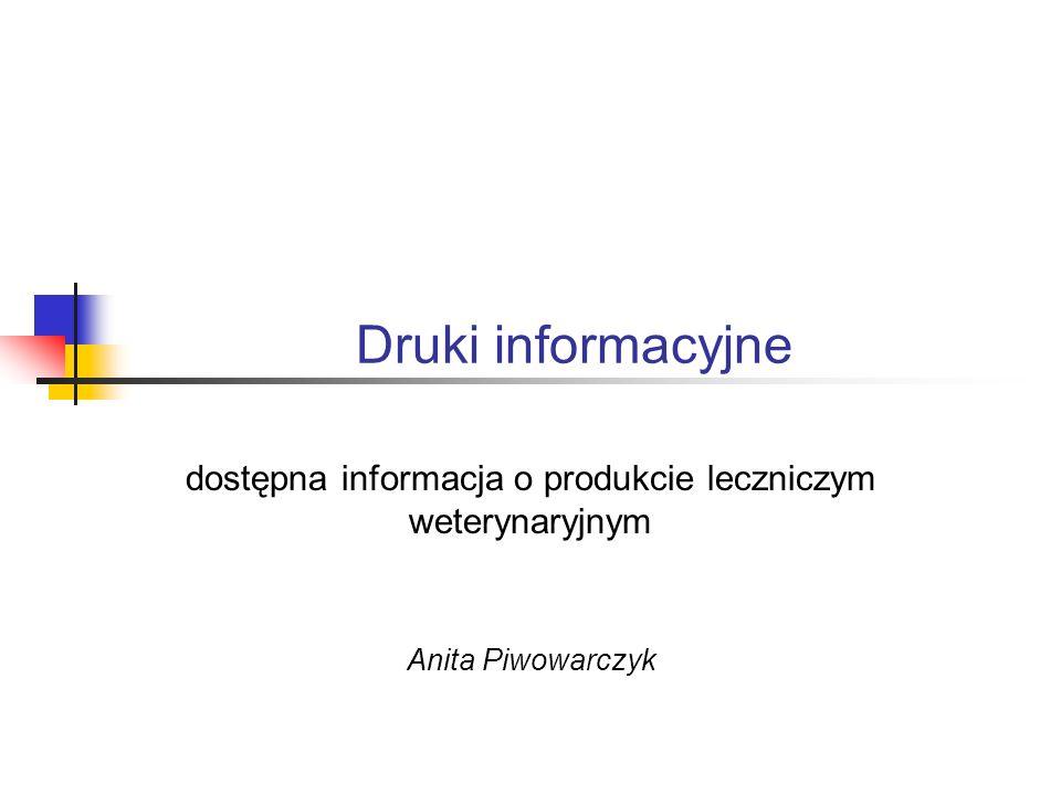 dostępna informacja o produkcie leczniczym weterynaryjnym