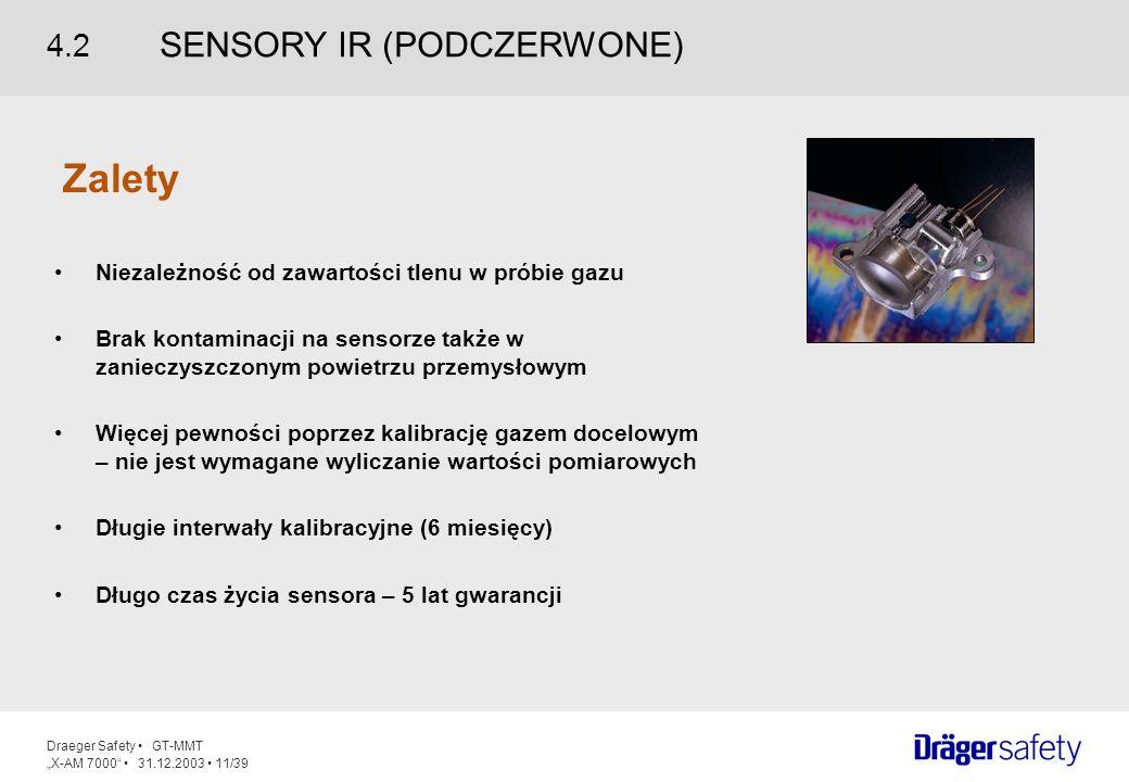 Zalety 4.2 SENSORY IR (PODCZERWONE)