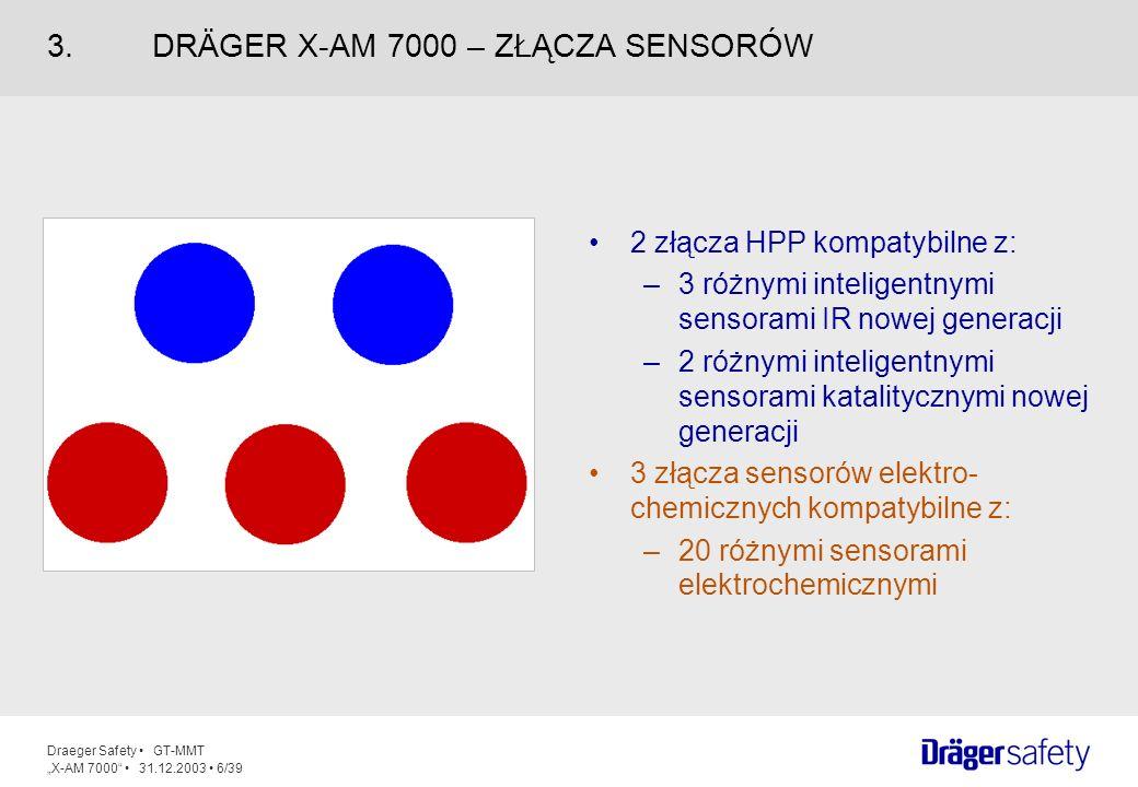 3. DRÄGER X-AM 7000 – ZŁĄCZA SENSORÓW