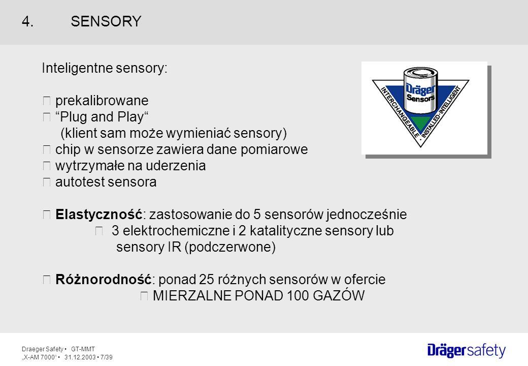 4. SENSORY Inteligentne sensory:  prekalibrowane