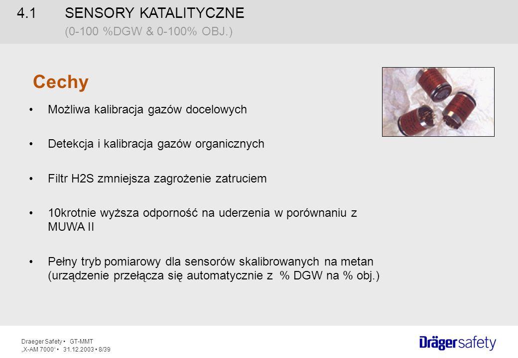 Cechy 4.1 SENSORY KATALITYCZNE (0-100 %DGW & 0-100% OBJ.)