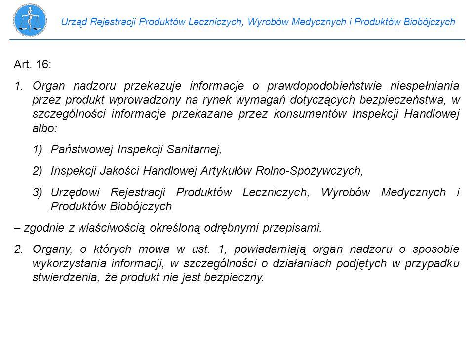 1) Państwowej Inspekcji Sanitarnej,