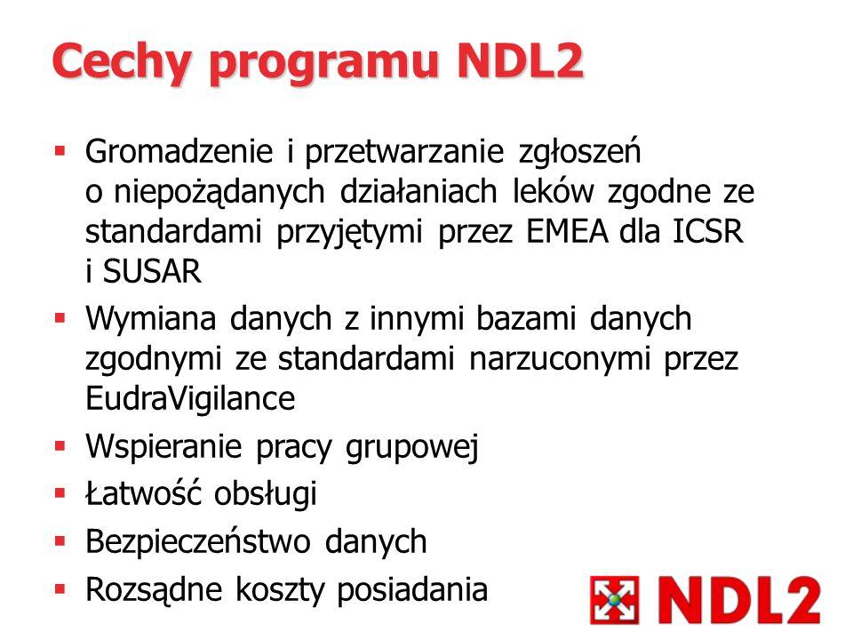 Cechy programu NDL2