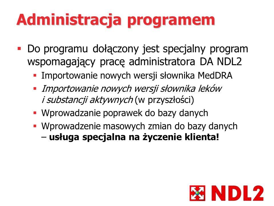 Administracja programem