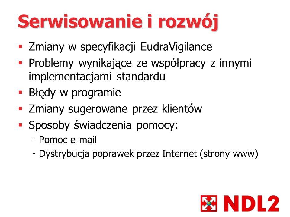 Serwisowanie i rozwój Zmiany w specyfikacji EudraVigilance