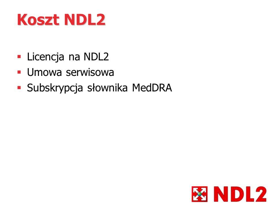 Koszt NDL2 Licencja na NDL2 Umowa serwisowa