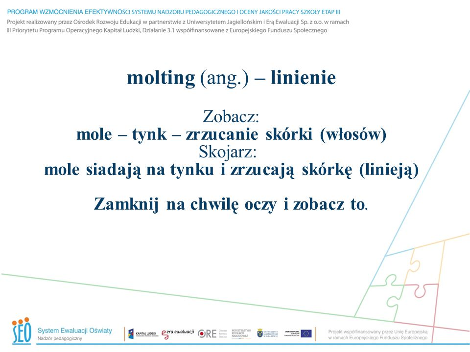 molting (ang.) – linienie