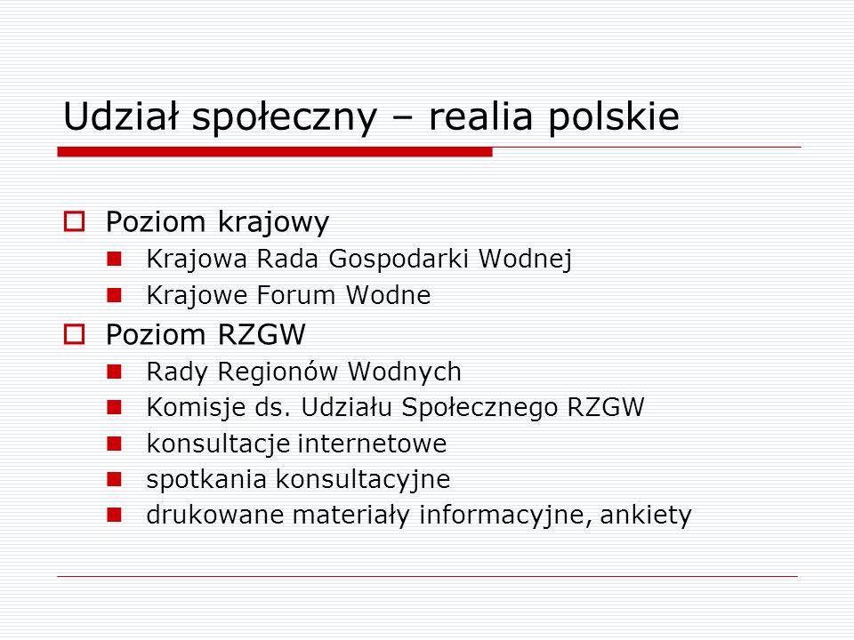 Udział społeczny – realia polskie