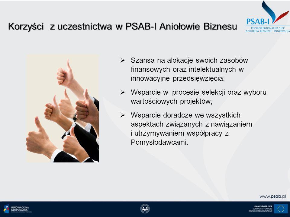 Korzyści z uczestnictwa w PSAB-I Aniołowie Biznesu