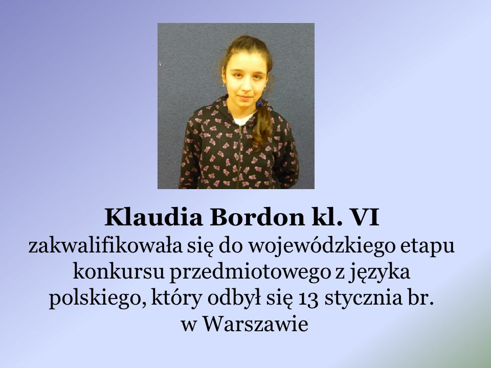Klaudia Bordon kl.
