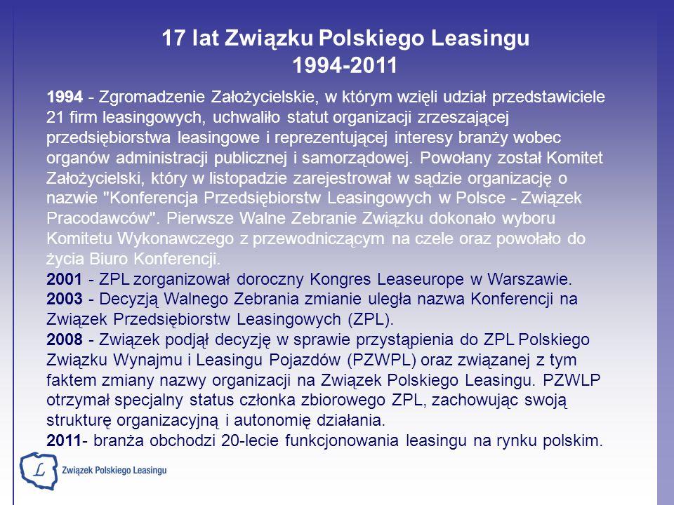 17 lat Związku Polskiego Leasingu 1994-2011
