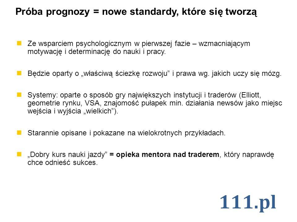 Próba prognozy = nowe standardy, które się tworzą