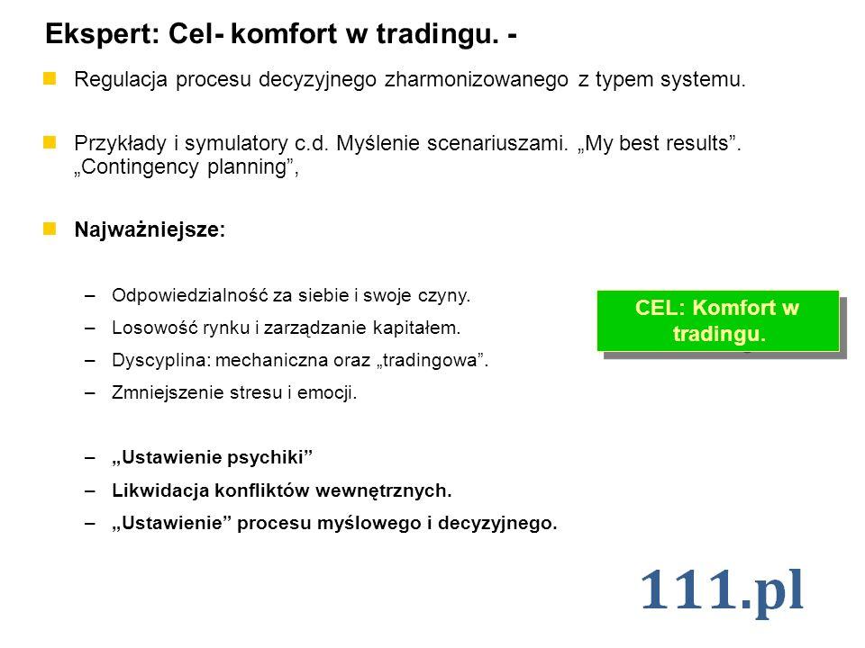 CEL: Komfort w tradingu.