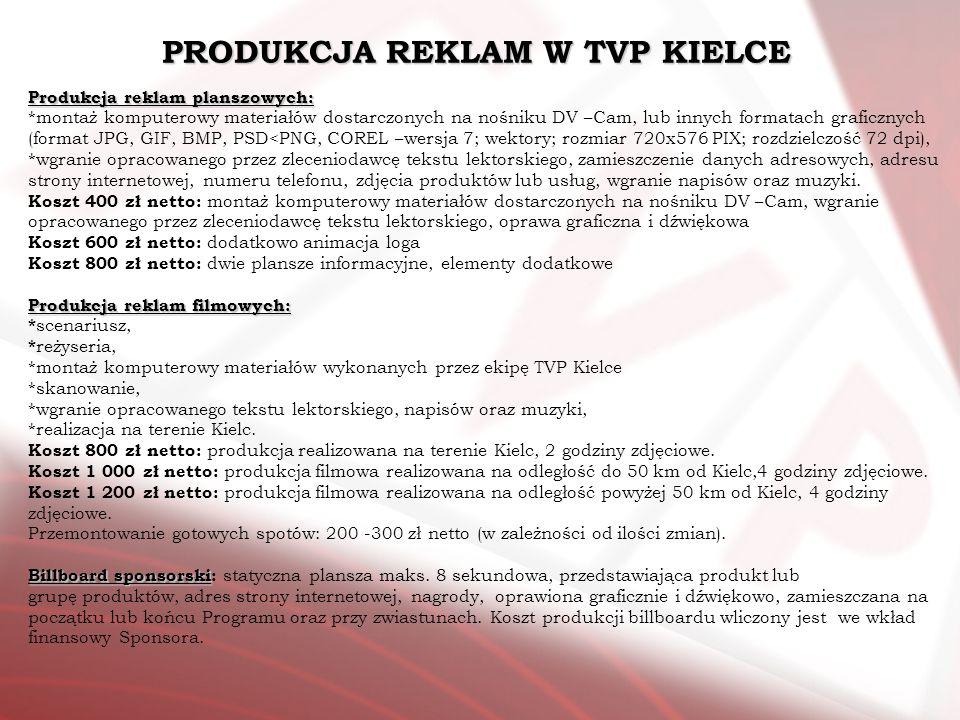 PRODUKCJA REKLAM W TVP KIELCE