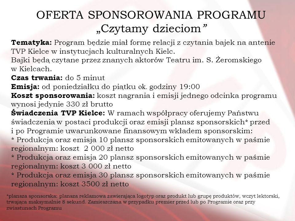 OFERTA SPONSOROWANIA PROGRAMU