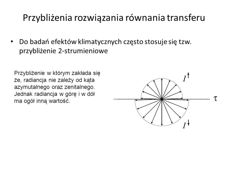 Przybliżenia rozwiązania równania transferu