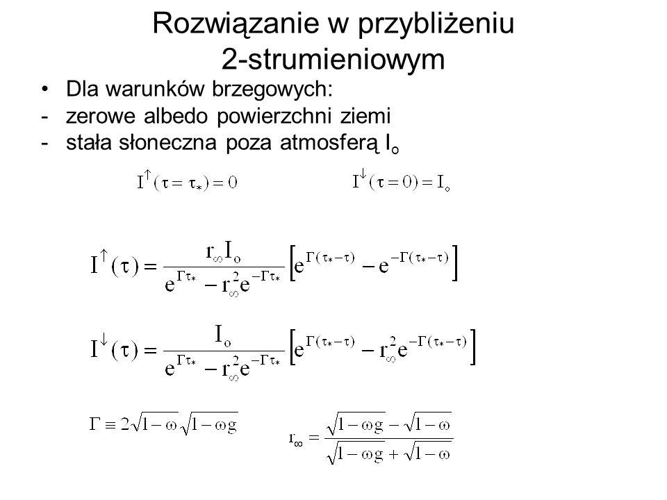 Rozwiązanie w przybliżeniu 2-strumieniowym