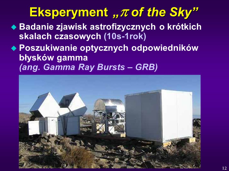 "Eksperyment ""p of the Sky"