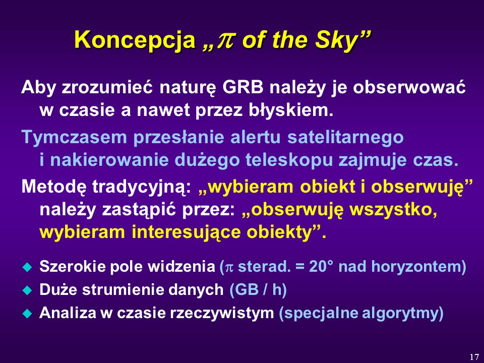 "Koncepcja ""p of the Sky"