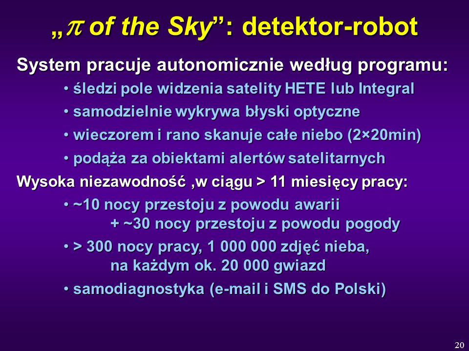 """p of the Sky : detektor-robot"