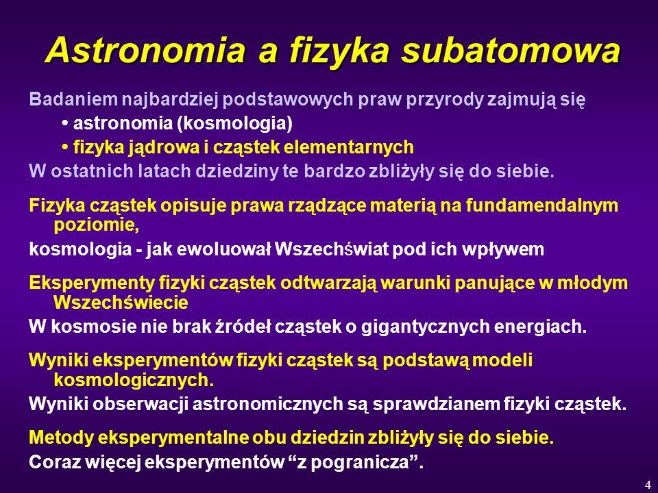 Astronomia a fizyka subatomowa