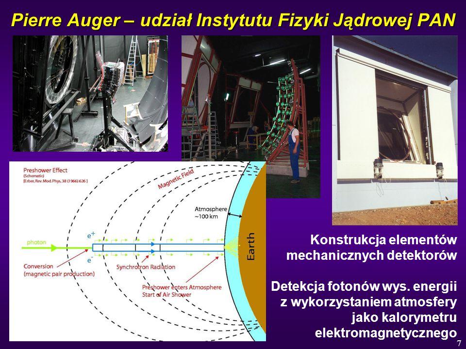 Pierre Auger – udział Instytutu Fizyki Jądrowej PAN