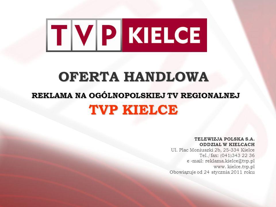 OFERTA HANDLOWA REKLAMA NA OGÓLNOPOLSKIEJ TV REGIONALNEJ TVP KIELCE