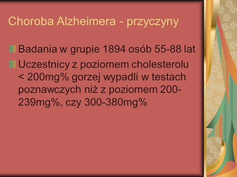 Choroba Alzheimera - przyczyny