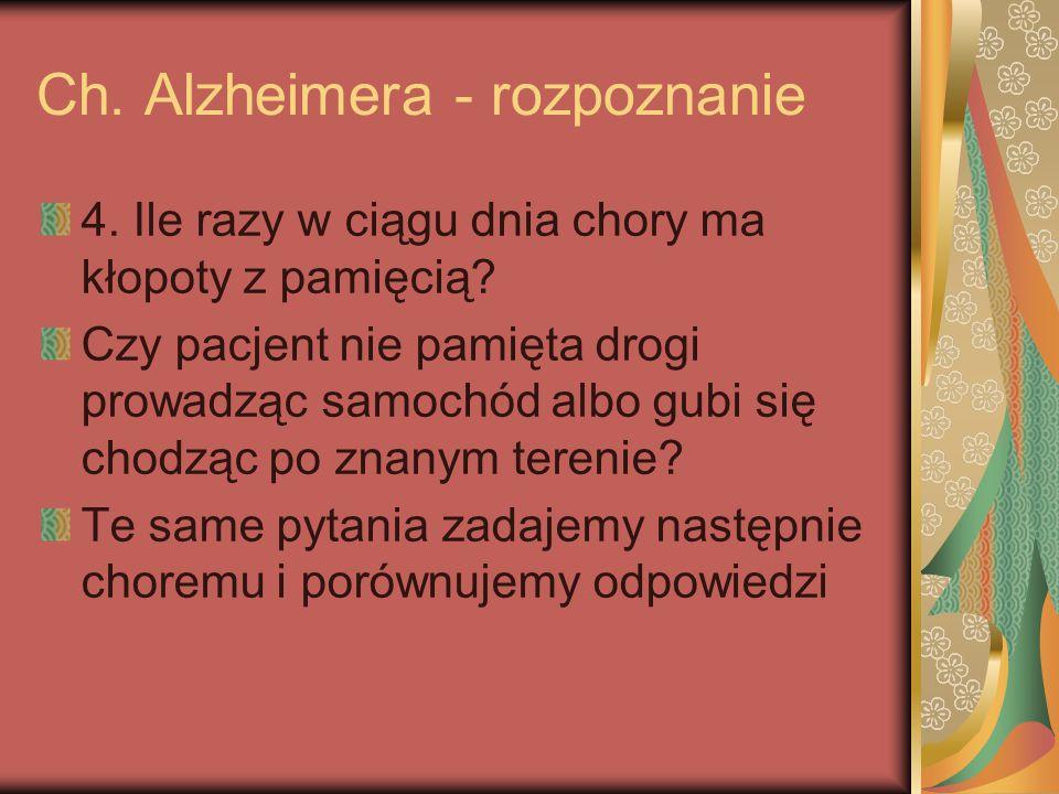 Ch. Alzheimera - rozpoznanie