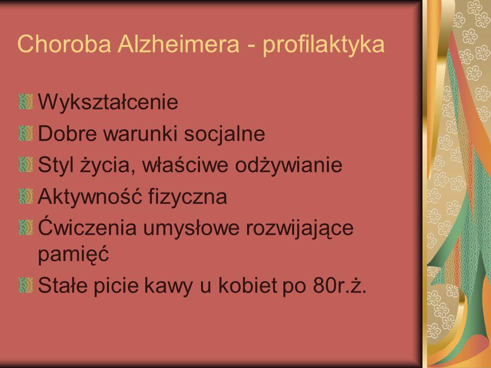 Choroba Alzheimera - profilaktyka