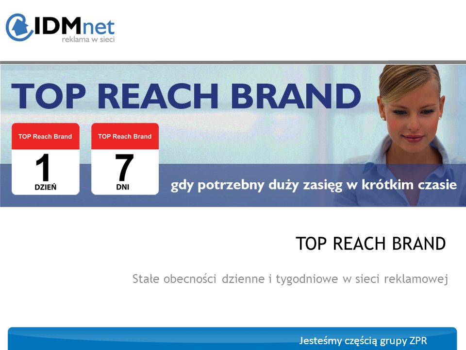 Stałe obecności dzienne i tygodniowe w sieci reklamowej