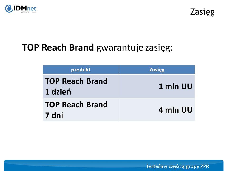 TOP Reach Brand gwarantuje zasięg: