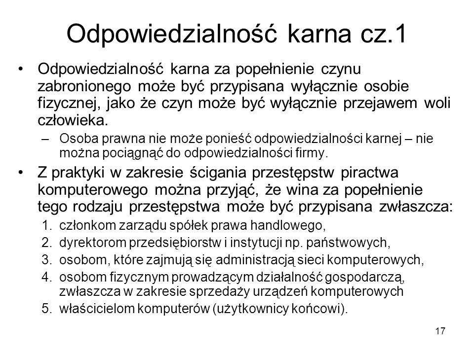 Odpowiedzialność karna cz.1