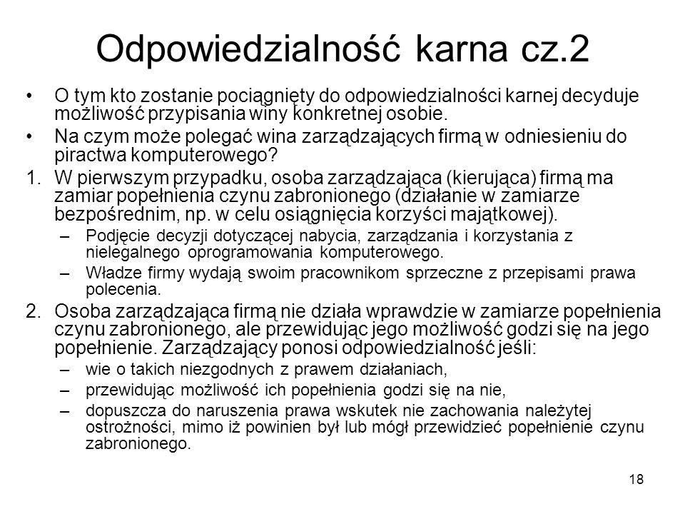 Odpowiedzialność karna cz.2