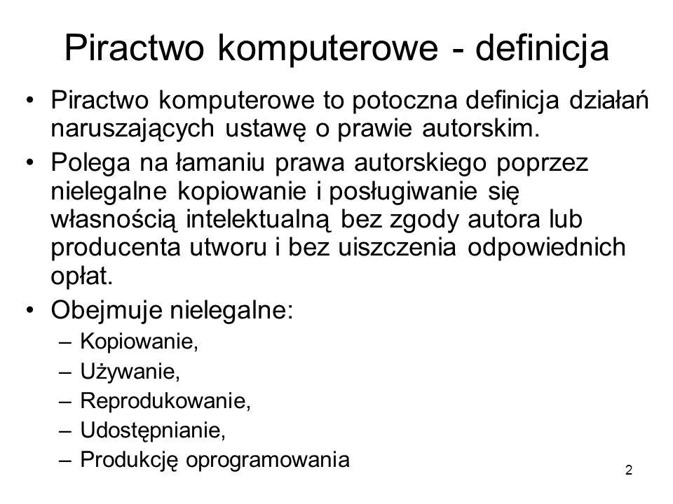 Piractwo komputerowe - definicja