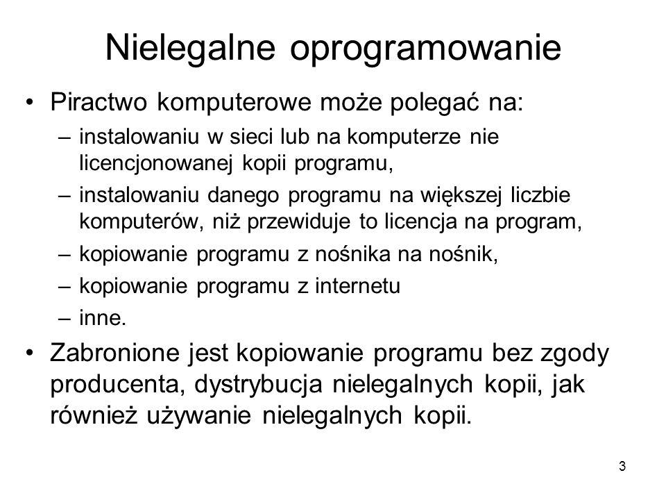 Nielegalne oprogramowanie