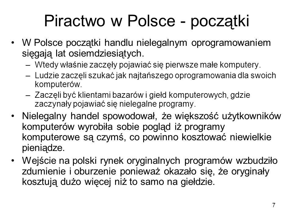 Piractwo w Polsce - początki