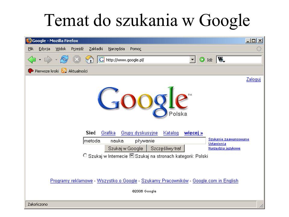 Temat do szukania w Google