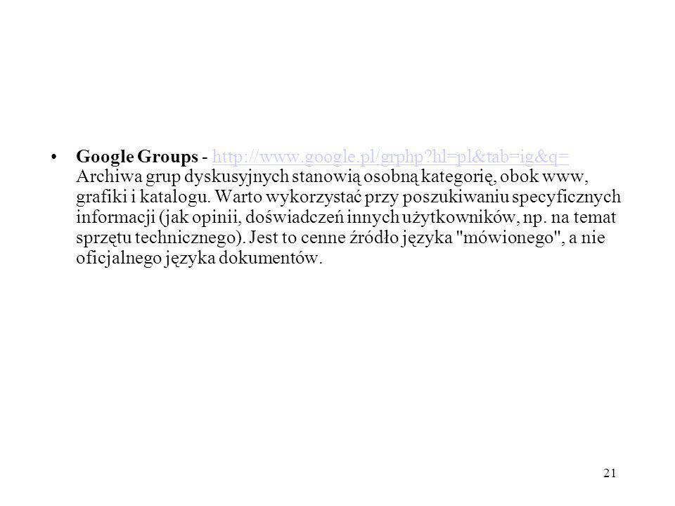Google Groups - http://www. google. pl/grphp