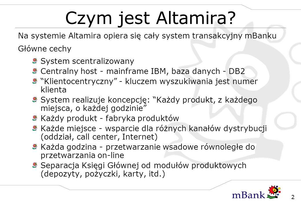 Czym jest Altamira Na systemie Altamira opiera się cały system transakcyjny mBanku. Główne cechy.