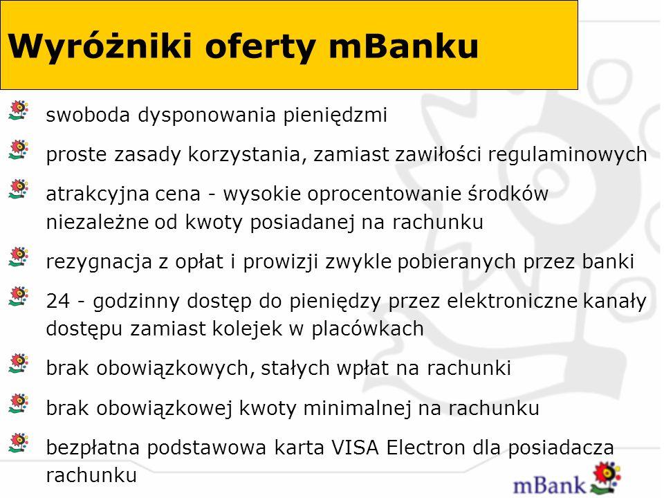 Wyróżniki oferty mBanku