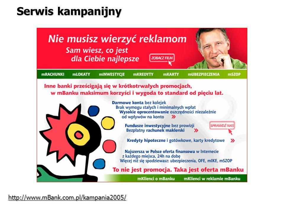 Serwis kampanijny http://www.mBank.com.pl/kampania2005/