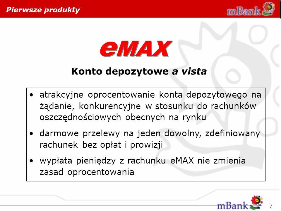 eMAX Konto depozytowe a vista
