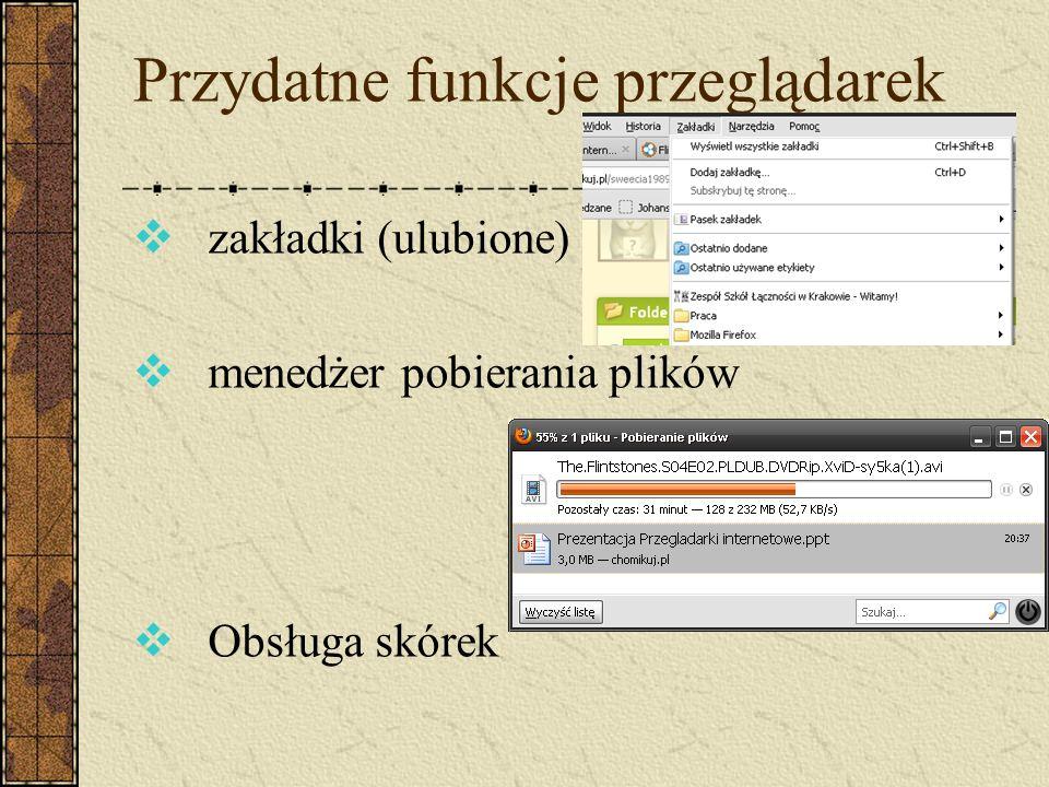 Przydatne funkcje przeglądarek