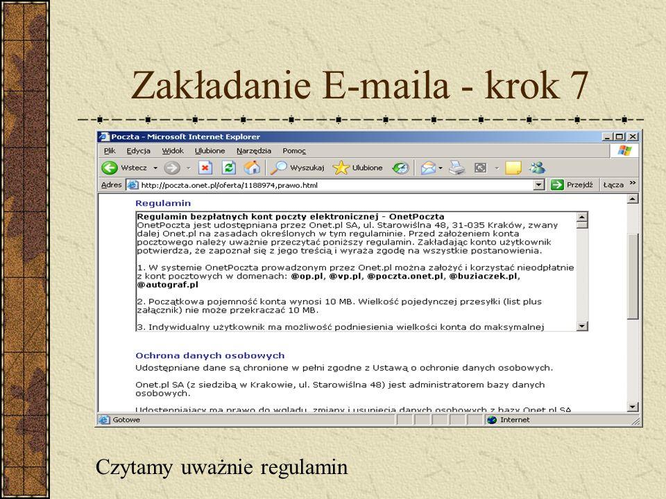 Zakładanie E-maila - krok 7