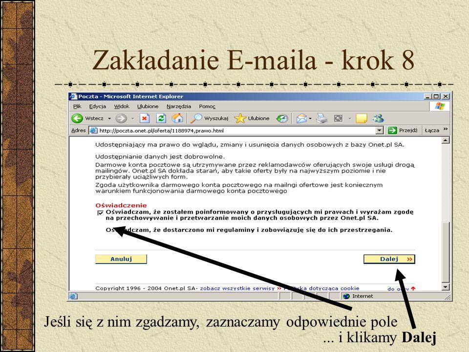 Zakładanie E-maila - krok 8
